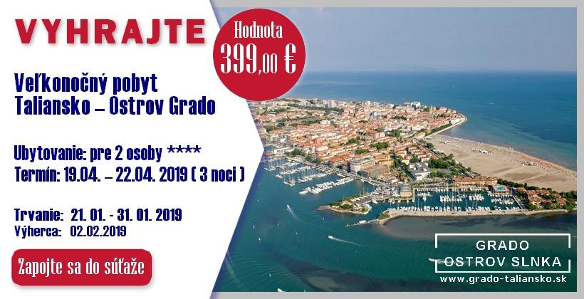 SÚŤAŽ: Veľkonočný pobyt v Taliansku – Ostrov Grado
