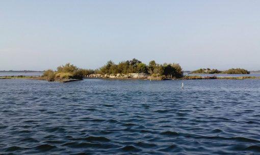 malý ostrov v lagúne talianskeho Grada