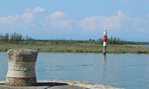 svätyňa ostrova Barbana, lagúny Grado, Taliansko